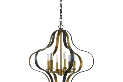 The Janis collection features a rounded quatrefoil design of solid steels trips shaped and welded into a singular unit. A two-tone aged bronze and aged brass finish adds depth and richness.https://www.elkgroupinternational.com/janis-6-light-chandelier-in-aged-bronze-and-aged-brass-33164-6