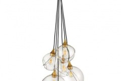 Mesmerizingly asymmetrical with a mid-century modern flair, Skye showcases a cluster of clear, open globes, each encircled with a slender brass ring. Each opening is off center and the globes fall to different lengths, with a Heritage Brass details pulling the look together perfectly. Adjustments are easily made with the cinching ring, also finished in Heritage Brass. Skye is part of the Lisa McDennon Collection.https://www.hinkley.com/30306hbr.html