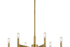 This 6 light chandelier in Natural Brass from the soft contemporary Erzo collection is ideal anywhere you want a modern touch. The simple, sleek lines create a stylish accent for your home.https://www.kichler.com/kichler/products/indoor-lighting/chandeliers/1--tier-chandeliers/erzo-6-light-chandelier-in-natural-brass/